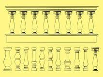 楼梯栏杆概述喜欢绘画的技巧 向量例证