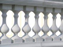 楼梯栏杆白色 免版税库存照片