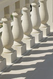 楼梯栏杆石头 免版税库存照片