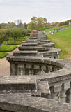 楼梯栏杆老公园 免版税图库摄影