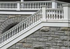 楼梯栏杆老台阶 免版税图库摄影