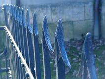 楼梯栏杆蓝色 免版税库存图片