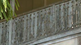 楼梯栏杆详述一个按传统式样的房子 影视素材