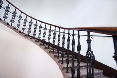 楼梯栏杆铁wraught 免版税图库摄影