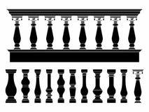 楼梯栏杆黑色积土 向量例证