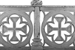 楼梯栏杆细节 免版税库存图片
