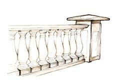 楼梯栏杆 向量例证