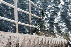楼梯水 免版税库存图片