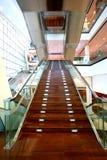 楼梯的重庆盛大剧院玻璃墙 免版税库存图片