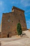 楼梯看法对若望二十二世` s城堡的在Châteauneuf duPape hamlet 库存图片
