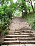楼梯石头 免版税图库摄影
