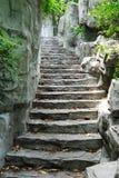 楼梯石头 库存照片