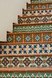 楼梯铺磁砖了 免版税库存图片