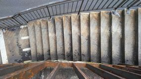 楼梯从上面 库存图片
