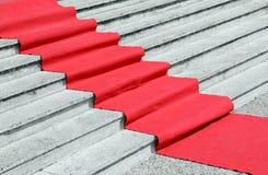 楼梯以欢迎VIPs的一豪华隆重 免版税库存照片