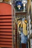 楼梯间的抽象图象 免版税库存照片