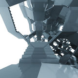 楼梯建筑学结构未来派构成 库存照片