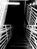 黑楼梯 库存照片