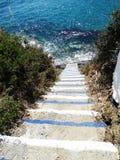 楼梯achitecture细节在建立希腊的旅馆里 库存图片
