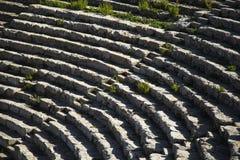 楼梯Segesta圆形露天剧场 库存照片