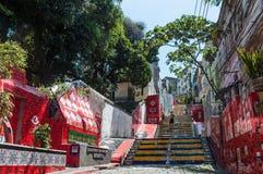 楼梯Selaron在里约热内卢 库存照片