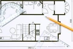 楼面布置图 免版税库存图片