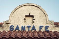 楼fe圣诞老人被看到的符号 库存图片
