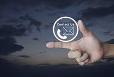 概念与我们联系 免版税库存照片