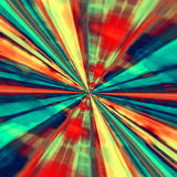 概念乡下空的老透视图路速度舒展 数字式抽象派 背景蓝色红色 分数维隧道 未来派幻想例证 现代艺术性的设计 免版税库存照片