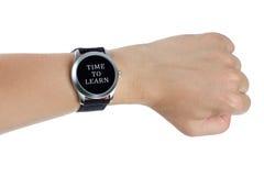 概念了解时间 库存照片