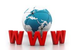 概念互联网万维网宽世界 图库摄影
