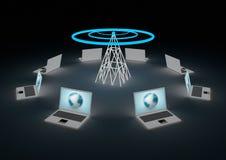 概念互联网无线 图库摄影