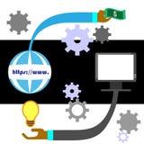 概念互联网echange传染媒介  库存照片
