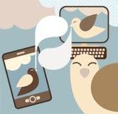 概念例证媒体社交向量 免版税库存图片