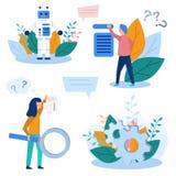 概念例证生产自动化,技术革命,科学进展,编程,网上设置,训练, 向量例证