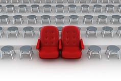 概念供以座位vip 免版税库存图片