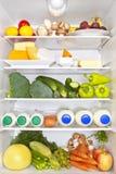 概念健康充分健身的冰箱 库存图片