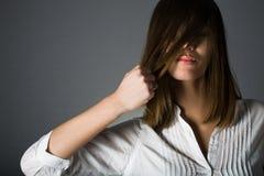 概念健康头发的发型 免版税库存照片