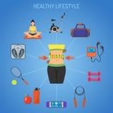 概念健康生活方式 皇族释放例证