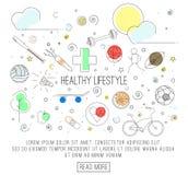 概念健康生活方式 免版税库存照片