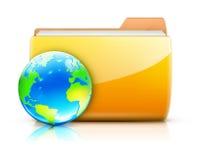 概念全球共享 皇族释放例证