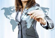概念全球化查出的白色 库存照片