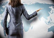 概念全球化查出的白色 免版税库存图片