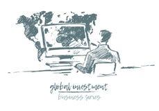 概念全球性投资商人传染媒介 免版税库存图片