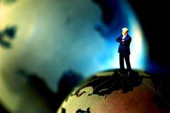 概念全球经理顶层 免版税库存照片