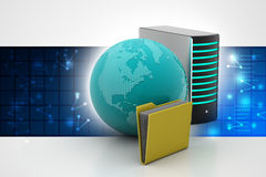 概念全球网络连接 免版税库存照片