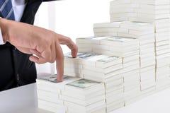 概念关于股票和财务的媒介报告 免版税图库摄影