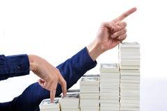 概念关于股票和财务的媒介报告 库存照片