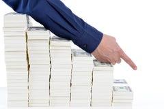 概念关于股票和财务的媒介报告 库存图片