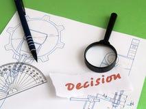 概念决策 免版税库存照片